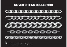 Free vector Silver Chains Vector Collection #9153