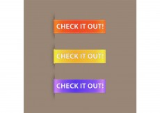 Free vector Simple Promotional Button Vector Ribbon #8160
