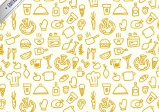 Free vector Sketchy kitchen pattern #6733