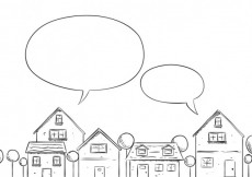 Free vector Sketchy neighborhood with speech bubbles #7405