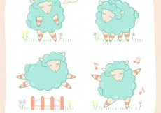 Free vector Sketchy sheeps #7423