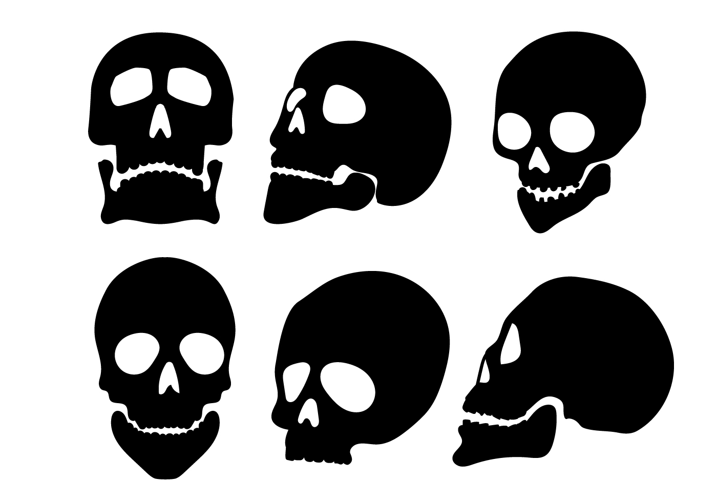 Free Vector Skull Silhouette Vectors 11503 My Graphic Hunt