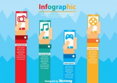 Free vector Smarrtphone Infographic Vectors #6598
