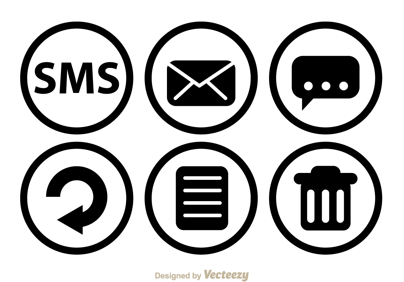 Free vector sms black circle icons 5779 my graphic hunt biocorpaavc Images
