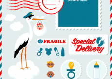 Free vector Special Delivery! Free Baby Vector Graphics Have Arrived #7402