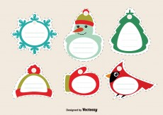 Free vector Stitched Christmas Tags #5156