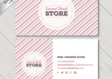 Free vector Striped business card #6306