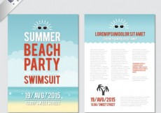 Free vector Summer party flyer #7427