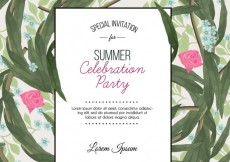 Free vector Summer party invitation #4173