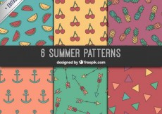 Free vector Summer patterns collection #4103