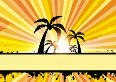 Free vector Summer Style Vector with Coconut Tree #6794