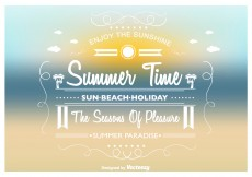 Free vector Summer Time Vector Background #11381