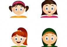Free vector Teenager faces collection #10655