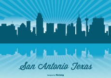 Free vector Texas Skyline Illustration #4190