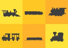 Free vector Train Silhouette Vectors #7794