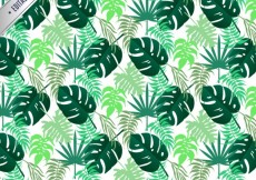 Free vector Tropical leaves pattern #4904