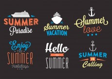 Free vector Typographic Backgrounds of Summer Activities in Vector #11752
