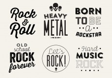 Free vector Typographic Vector Background of Rock Music #11209