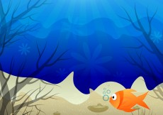 Free vector Underwater Scene Colorful Background #5446