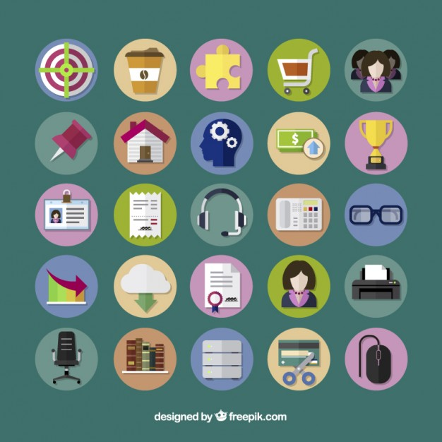 Fabulous business icons free vector photos