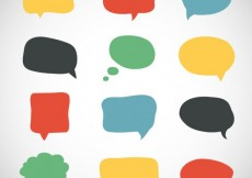 Free vector Variety of colorful speech bubbles #12139