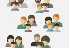Free vector Variety of family avatars #7015
