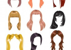 Free vector Variety of hairstyles #8757