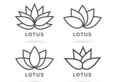 Free vector Variety of lotus flower logos #5182