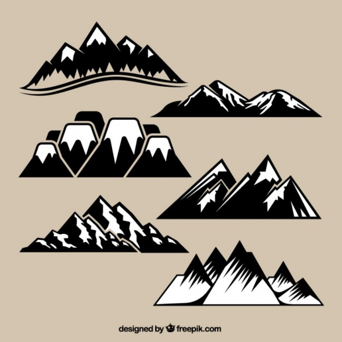 Free vector Variety of mountain range #5713 | My Graphic Hunt