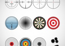 Free vector Variety of target icons #7130