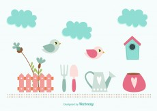 Free vector Baby Shower spring elements #5098