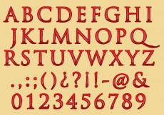 Free vector Classic Bloody Font Type #11966