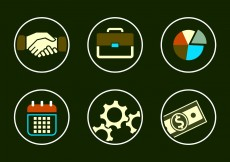 Free vector Vector Collection of Business Icons #11183