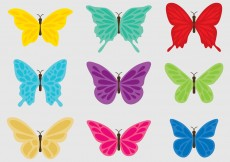 Free vector Colorful Butterflies #5185