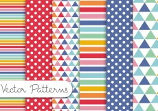Free vector Colorful Pattern Set #10709