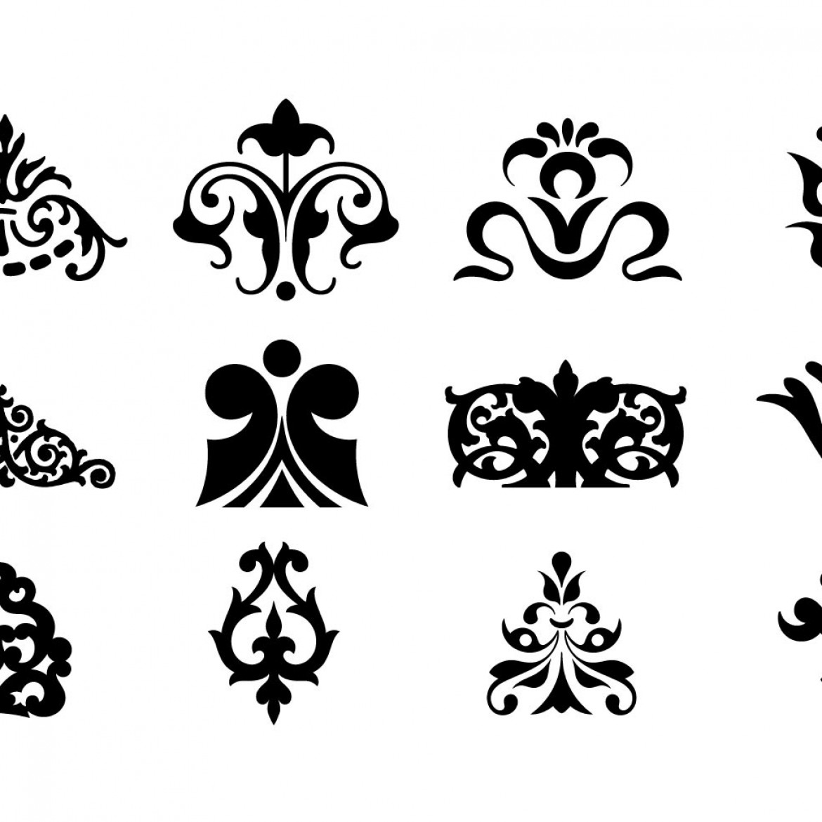 Free vector decorative ornaments for logo web and graphic for Design ornaments