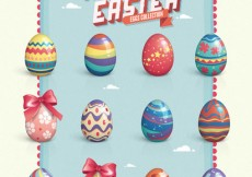 Free vector Vector Easter Eggs Set #7280