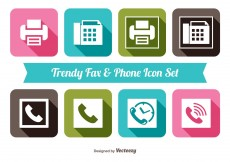 Free vector Fax and Phone Icon Set #11828