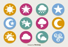 Free vector Flat weather icon set #10608
