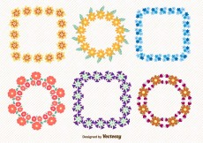 Free vector Floral Spring Wreaths #7149