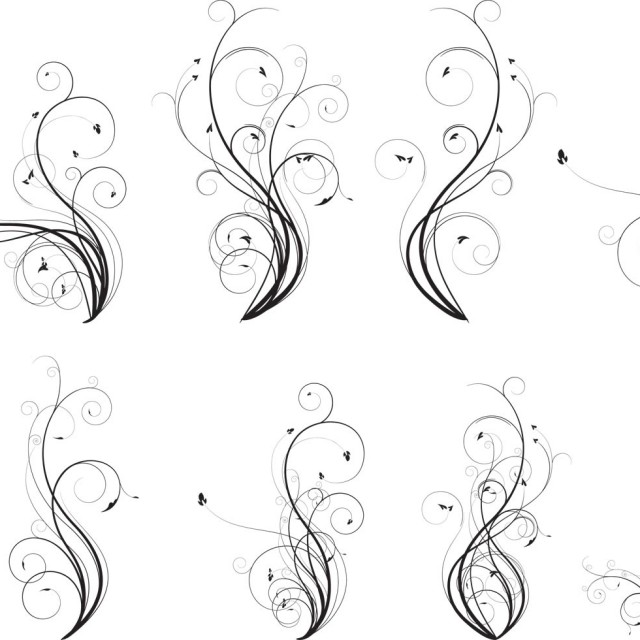 Free vector Vector Flourish Pack #9789