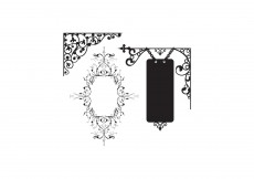Free vector Flowers and wrought iron #9557