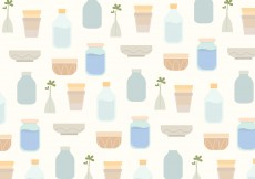 Free vector Vector Household Objects Pattern Background #11419