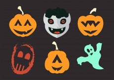 Free vector Vector Illustration of Several Halloween Masks and Costumes #11788