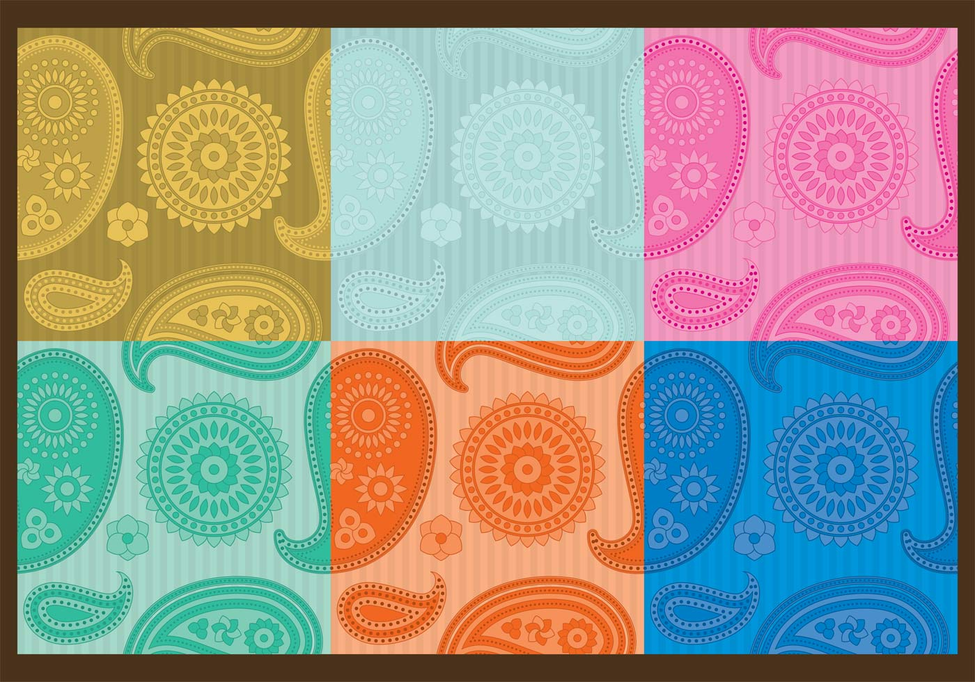 Appealing paisley pattern vector images