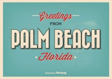 Free vector Palm Beach Florida Greeting Illustration #4754