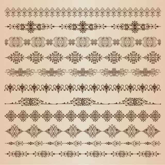Free vector Vector Set of Border Decoration Elements #5376