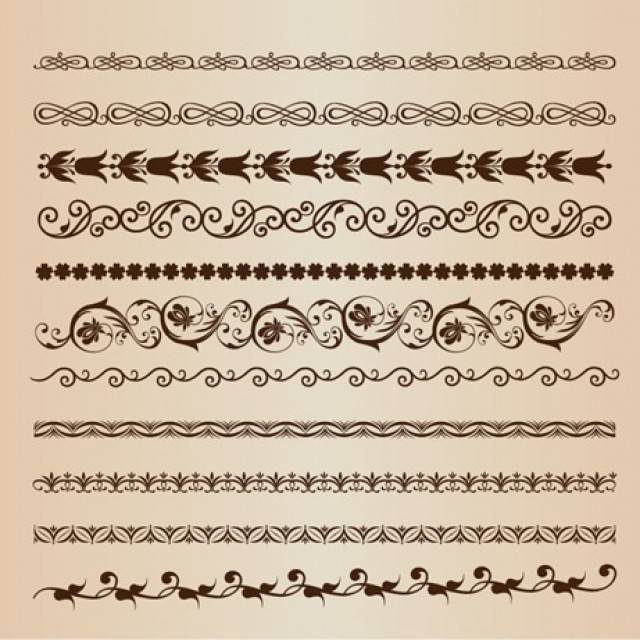 Free vector Vector Set of Border Elements #5382