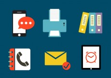 Free vector Set of Various Office Icons #5534