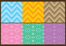 Free vector Triangle Aztec Patterns #5176